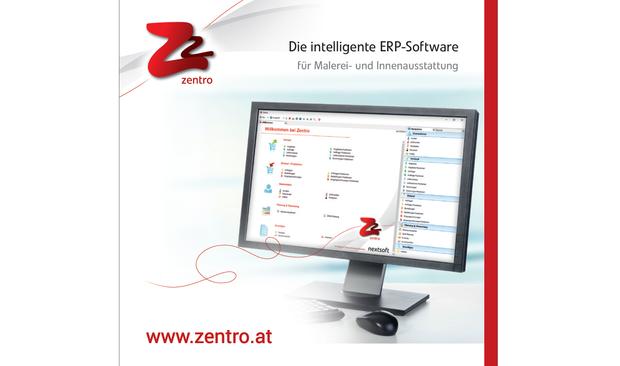 Cover des Branchenfolders für Maserei und Innenausstattung für die ERP-Software Zentro von nextsoft