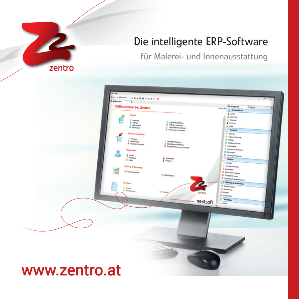 Cover des Folders für die Branchenlösung für Tischler von Zentro ERP